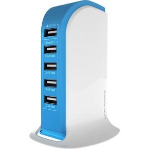 ENERGEN QC 3.0 14A 5 Ports Desktop USB Quick Charger - Blue