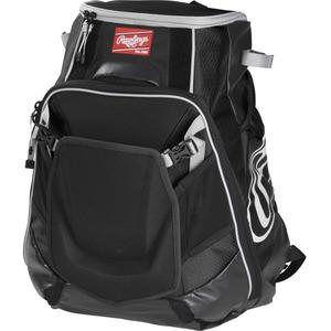 Rawlings Velo Carrying Case (Backpack) for Notebook, Tablet, Baseball Bat - Black