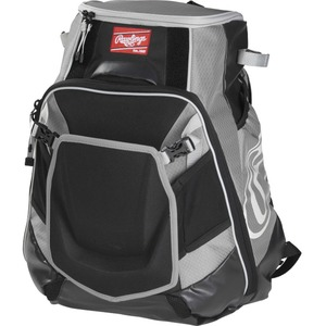 Rawlings Velo Carrying Case (Backpack) for Notebook, Tablet, Baseball Bat - Gray