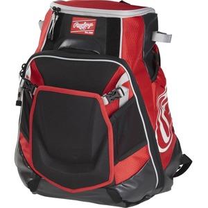 Rawlings Velo Carrying Case (Backpack) for Notebook, Tablet, Baseball Bat - Scarlet
