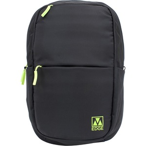 M-Edge Tech Backpack with Battery, Black with Lime - BPK-T6-N-BL
