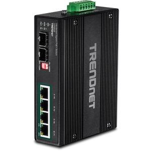 TRENDnet 6-Port Industrial Gigabit PoE+ DIN-Rail Switch 12 - 56 V