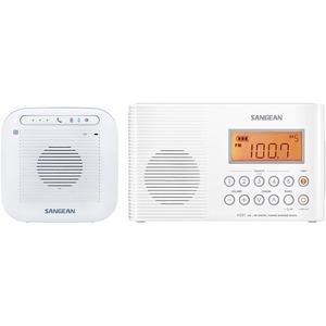 Sangean Portable Waterproof Bluetooth Speaker and Waterproof / Shower Radio