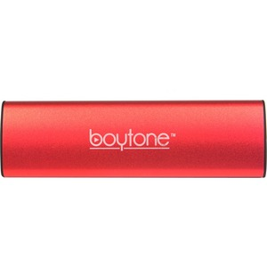 boytone BT-120RD 2.0 Speaker System - 6 W RMS - Portable - Battery Rechargeable - Wireless Speaker(s) - Red