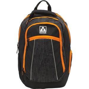 "M-Edge Commuter BPK-CO6-PO-BO Carrying Case (Backpack) for 17"" Battery, Smartphone, Sunglasses, Notebook, Key, Tablet, Wallet, Bottle, Luggage - Black, Orange"