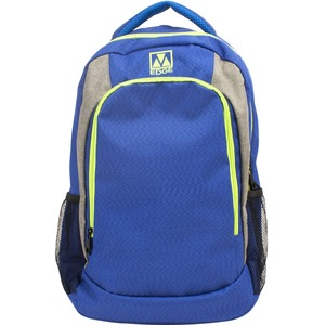 """M-Edge Relay BPK-RY6-N-BL Carrying Case (Backpack) for 17"""" Battery, Smartphone, Notebook, Tablet, Bottle - Blue"""