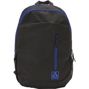 "M-Edge Flex BPK-FL6-N-BB Carrying Case (Backpack) for 15"" Battery, Smartphone, Notebook, Tablet, Bottle - Black, Blue"
