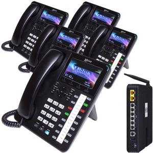 XBlue X50 System Bundle with (5) X4040 Vivid Color Display IP Phones