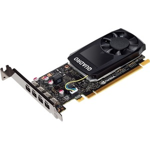 PNY Quadro P1000 Graphic Card - 4 GB GDDR5 - PCI Express 3.0 x16 - Low-profile - Single Slot Space Required