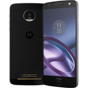 "Motorola Moto Z 64 GB Smartphone - 4G - 5.5"" AMOLED 2560 x 1440 QHD Touchscreen - Qualcomm Snapdragon 820 Quad-core (4 Core) 1.80 GHz - 4 GB RAM - 13 Megapixel Rear/5 Megapixe ...(more)"