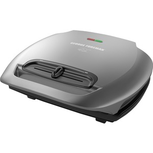 George Foreman 5-Serving Basic Plate Grill With Variable Temperature - Gun Metal