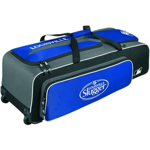 Louisville Slugger Carrying Case (Roller) for Gear, Helmet, Glove, Baseball Bat, Shoes, Baseball, Equipment - Royal