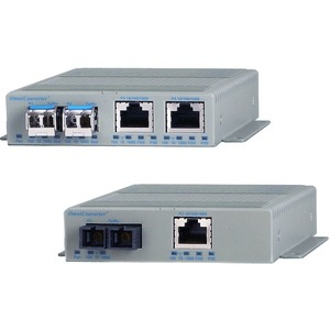 Omnitron Systems OmniConverter GPoE+/S Industrial Media Converter