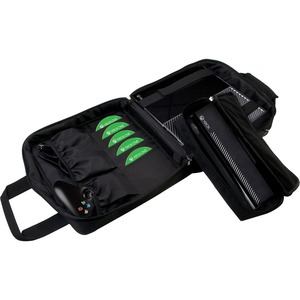 CTA Digital SXB1-MFC Carrying Case for Gaming Console, Optical Disc, Controller, Cable, Camera, Accessories - Black