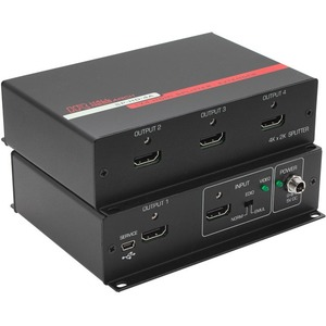 Hall Research 1x4 HDMI Video Splitter w/4K Support