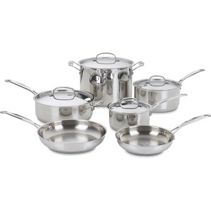 COOKWARE 10PC STAINLESS STEEL