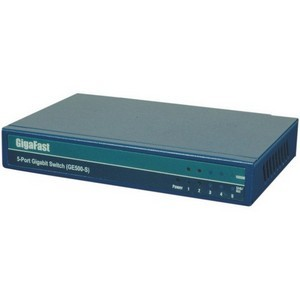 GigaFast GE500-S 5-Port Ethernet Switch