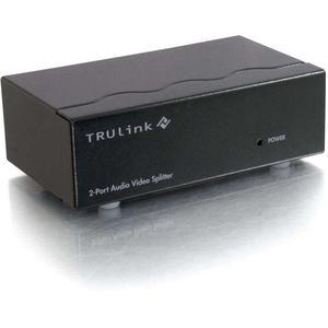 C2G 2-Port UXGA Monitor Splitter/Extender with 3.5mm Audio (Female Input)
