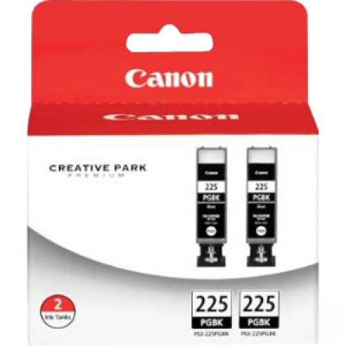 Canon PGI-225 Ink Cartridge - Twin-pack - Pigment Black
