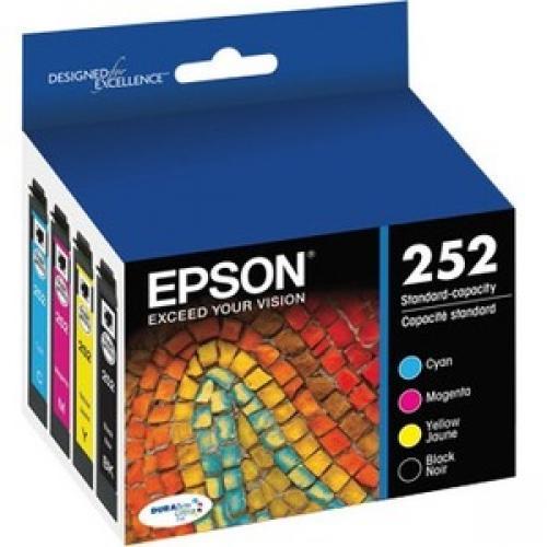 Epson DURABrite Ultra T252 Original Ink Cartridge - Multi-pack - Cyan, Black, Magenta, Yellow