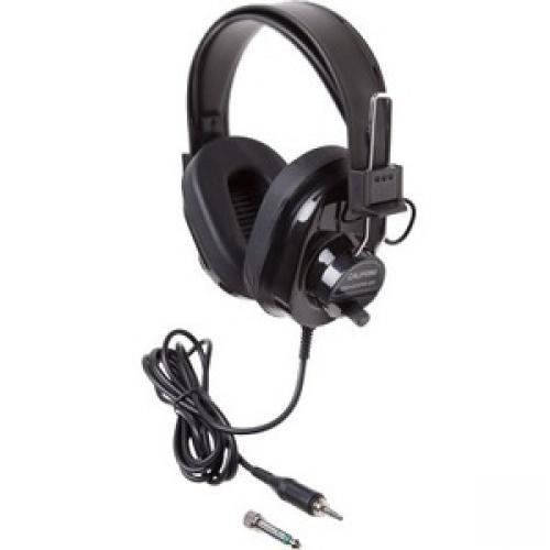 CALIFONE STURDY STEREO HEADPHONE W/VOLUME CONTROL BLK