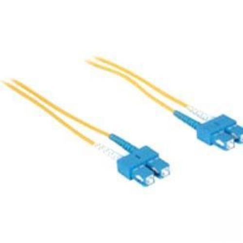 C2G 5m SC-SC 9/125 Duplex Single Mode OS2 Fiber Cable - Yellow - 16ft