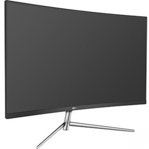 "AOC C32V1Q 31.5"" Full HD Curved Screen LCD Monitor - 16:9 - Black, Silver"