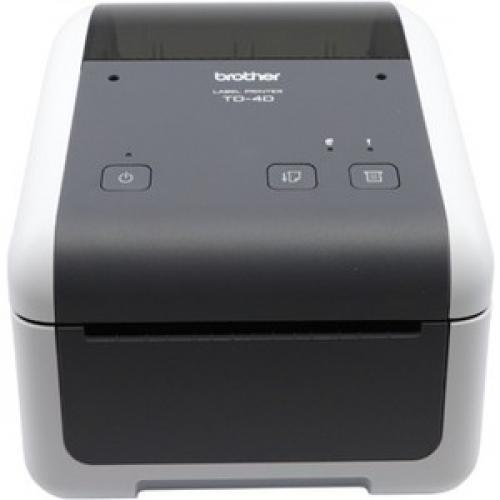 Brother TD4420DN Desktop Direct Thermal Printer - Monochrome - Label Print - Ethernet - USB - Serial