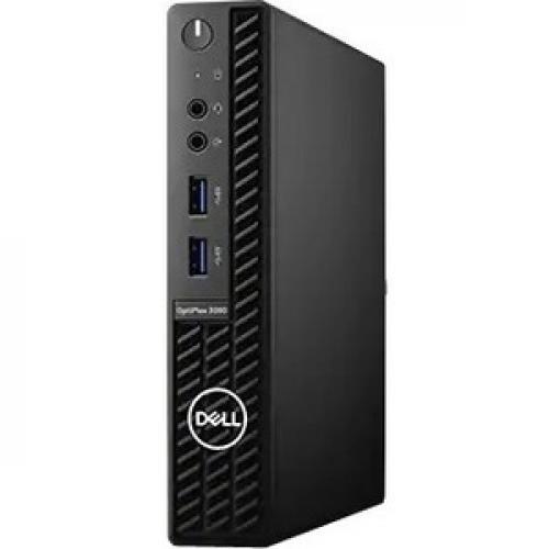 Dell OptiPlex 3000 3080 Desktop Computer - Intel Core i3 10th Gen i3-10100T Quad-core (4 Core) 3 GHz - 8 GB RAM DDR4 SDRAM - 256 GB SSD - Micro PC