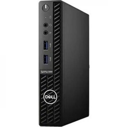 Dell OptiPlex 3000 3080 Desktop Computer - Intel Core i5 10th Gen i5-10500T Hexa-core (6 Core) 2.30 GHz - 8 GB RAM DDR4 SDRAM - 256 GB SSD - Micro PC