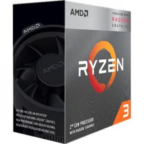AMD Ryzen 3 3200G Desktop Processor w/ Radeon Vega 8 Graphics - 4 Cores & 4 Threads - 3.6 GHz- 4 GHz Operating Frequency - AMD Radeon Vega 8 Graphics - High performance AMD Wraith Stealth Cooler - 65W Thermal Power