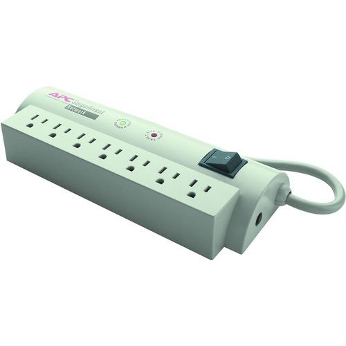 APC by Schneider Electric SurgeArrest Network 7 Outlets 120V - 7 x NEMA 5-15R - 480 J - 120 V AC Input - 120 V DC Output