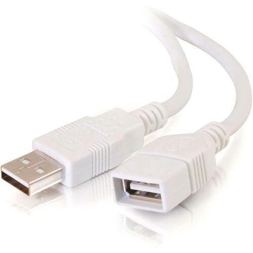 C2G 3m USB Extension Cable - USB 2.0 A to A - Male to Female - 10ft White