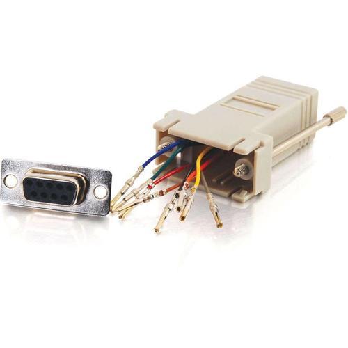 C2G RJ45 to DB9 Female Modular Adapter - Gray