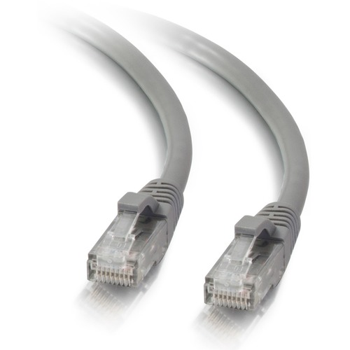 C2G 3ft Cat5e Ethernet Cable   Snagless Unshielded (UTP)   Gray 300/500