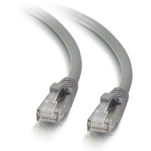 C2G 7ft Cat5e Ethernet Cable   Snagless Unshielded (UTP)   Gray 300/500