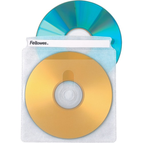 Fellowes 90661 Double-Sided CD/DVD Sleeves, 25-Pack