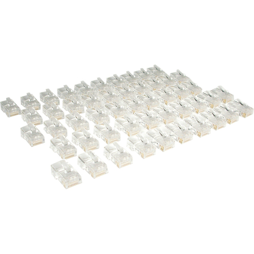 Tripp Lite Cat5e RJ45 Modular In-Line Connectors for Stranded Cat5e Cable, 50-Pack, TAA (N031-050)