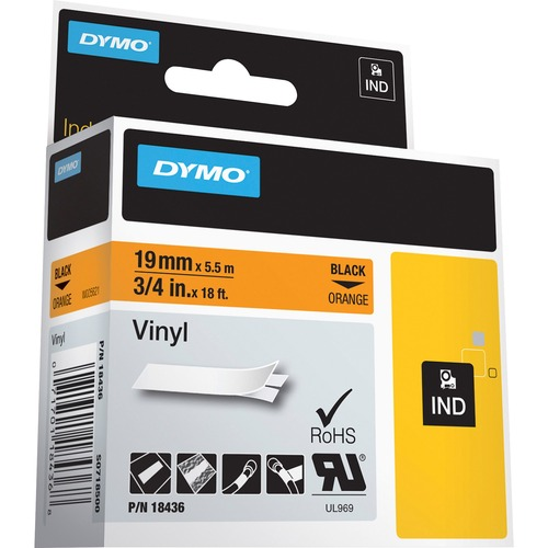 Dymo Colored Industrial Rhino Vinyl Labels 300/500