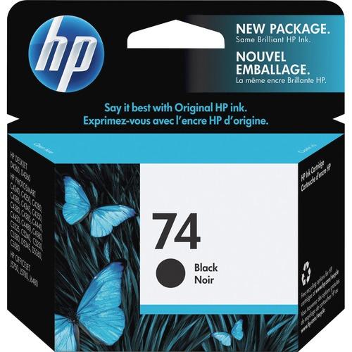 Original HP 74 Black Ink Cartridge | Works with HP DeskJet D4260, D4360; HP OfficeJet J5700, J6400; HP PhotoSmart C4200, C4300, C4400, C4500, C5200, C5500, D5300 Series | CB335WN