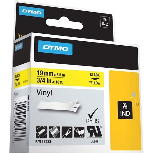 Dymo Colored Industrial Rhino Vinyl Labels 300/500