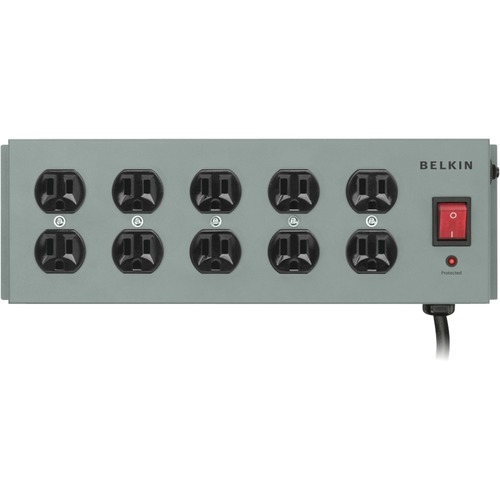 Belkin SurgeMaster 10-Outlets Surge Suppressor - Receptacles: 10 - 885J