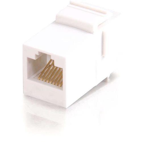 C2G RJ45 (8P8C) Coupler Keystone Insert Module   White 300/500