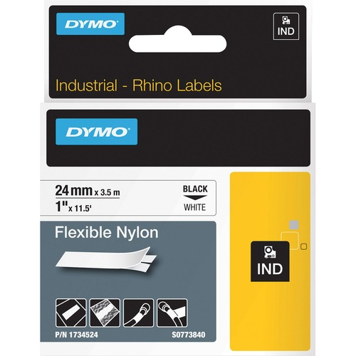 "Dymo 1"" Flexible Nylon Rhino Label Tape 300/500"