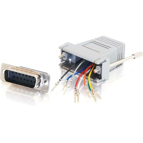 C2G RJ45 To DB15 Male Modular Adapter 300/500