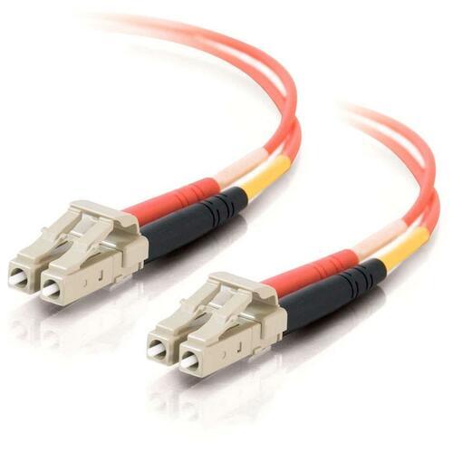 C2G 30m LC LC 50/125 OM2 Duplex Multimode PVC Fiber Optic Cable (USA Made)   Orange 300/500