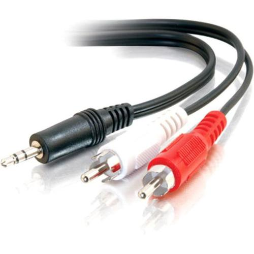 C2G 6ft Value Series One 3.5mm Stereo Male to Two RCA Stereo Male Y-Cable