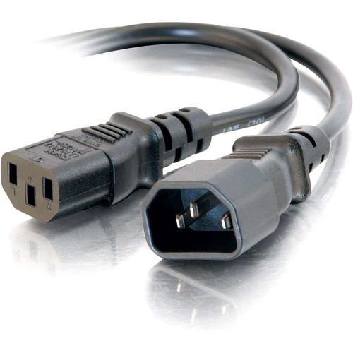 C2G 4ft 16 AWG 250 Volt Computer Power Extension Cord (IEC320C14 to IEC320C13)