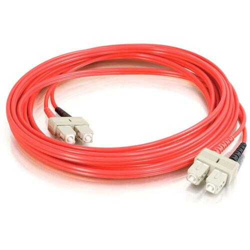 C2G-3m SC-SC 62.5/125 OM1 Duplex Multimode PVC Fiber Optic Cable - Red