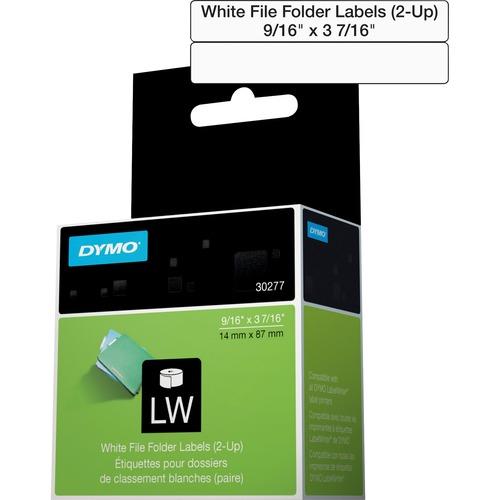 Dymo White 2 Up File Folder Labels 300/500